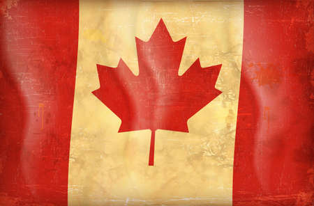 Old grunge flag of canada background vector Stock Vector - 12492706