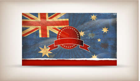 Old grunge flag of australia background vector Stock Vector - 12492695