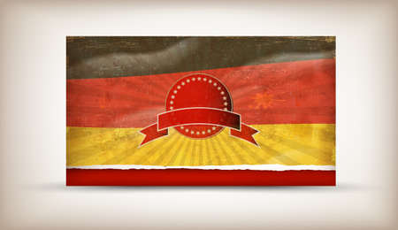 Old grunge flag of germany background vector Stock Vector - 12492702
