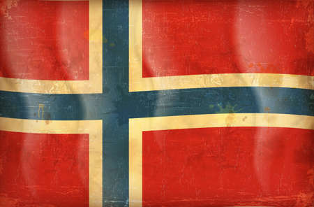 Old grunge flag of norway background vector Stock Vector - 12492753