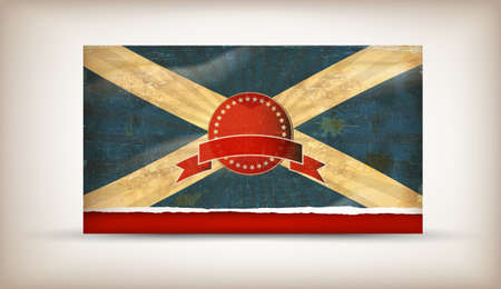 Old grunge flag of Scotland  background vector Stock Vector - 12492711