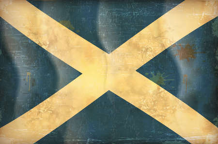 Old grunge flag of Scotland  background vector Stock Vector - 12492750