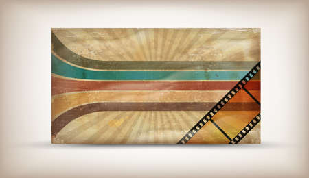 60 70: Retro background with coloful stripes and film Illustration