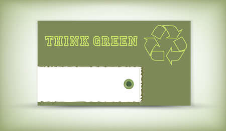 Think Green - eco recycling logo  Stock Vector - 13130021