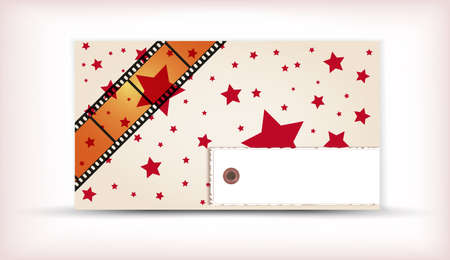 Retro background with coloful stripes and stars Vector