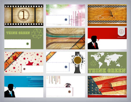 Business Card Set Stock Vector - 13130026