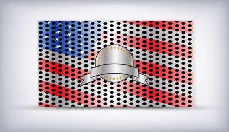 detailed steel textured  illustration of  USA flag Stock Vector - 13175011