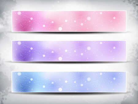 Colorful Banner with waves and lights EPS Vector