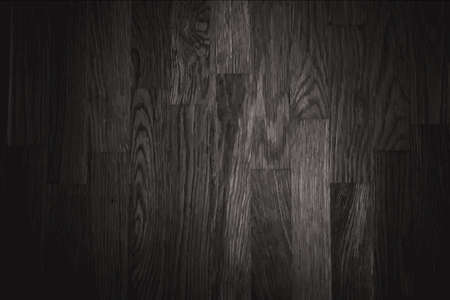 black wall wood texture background - vector Vector