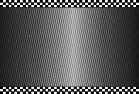Carbon Fiber Black Background Texture - High Detail Vektorové ilustrace