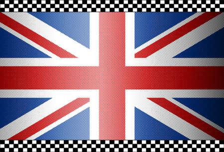 union jack: Carbon Fiber Black Background Texture - The United Kingdom