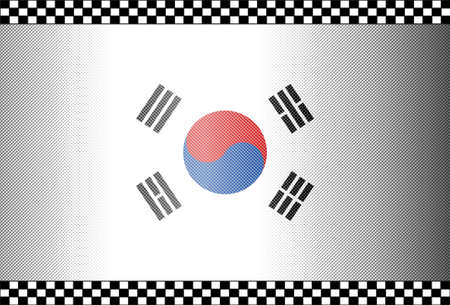 Carbon Fiber Black Background Texture - South Korea Vector