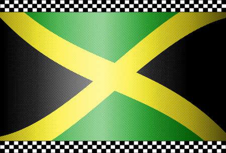 jamaica: Carbon Fiber Black Background Texture - Jamaica
