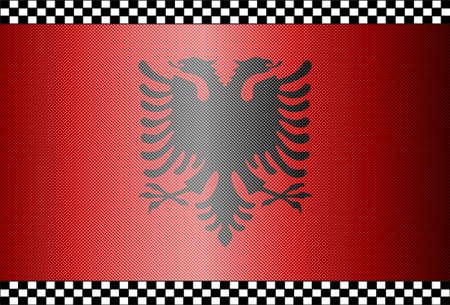 albania: Carbon Fiber Black Background Texture - Albania