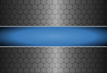 A realistic carbon fiber background - vector