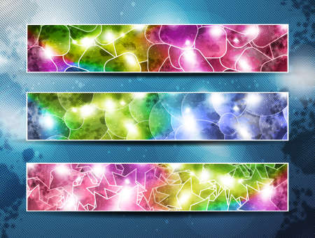 set of three banners - abstract  headers  Vector