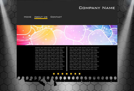 carbon website business template easy to edit Stock Vector - 13414656