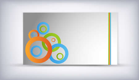 circles banner card - with place for text Vector