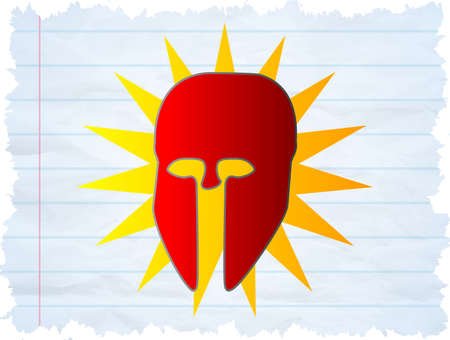 beefy:  Illustration of a Cool Superhero mask