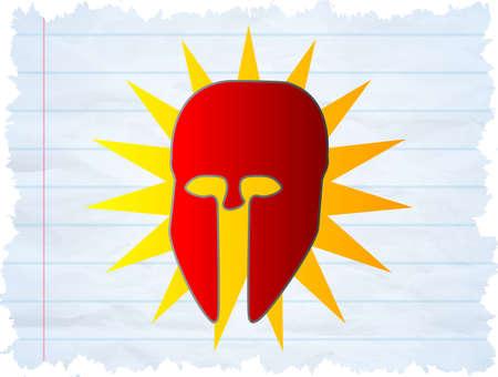 avenger: Ilustración de una máscara de superhéroe frío