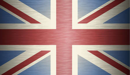 britain flag: grunge illustration of flag of The United Kingdom of Great Britain and Northern Ireland