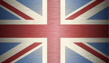 bandera de gran bretaña: grunge ilustración de la bandera del Reino Unido de Gran Bretaña e Irlanda del Norte Vectores