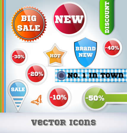 Sale Icon Set Vector