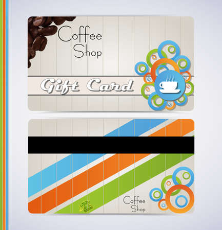 Coffee shop cafe gift card for your business Stock Vector - 13766058