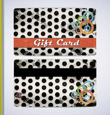 retro grunge gift card for your business Vector