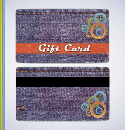 retro grunge jeans gift card for your business photo