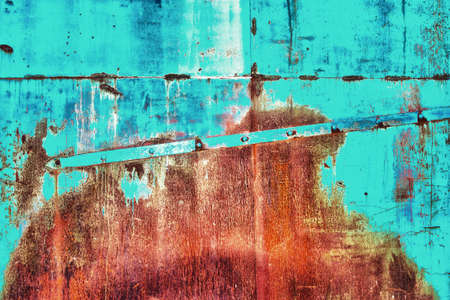 grunge rusty barrel texture and background hdr Archivio Fotografico
