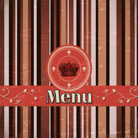 luxury template for a restaurant menu with crown Vector
