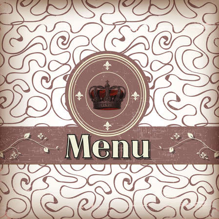 luxury template for a restaurant menu with crown
