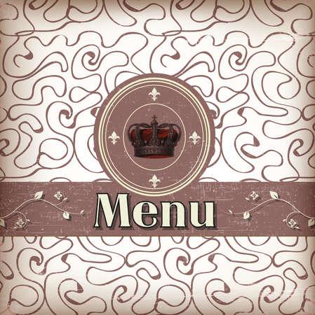 luxury template for a restaurant menu with crown Zdjęcie Seryjne - 13858222