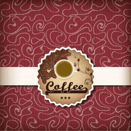 luxury template for a coffee menu in red Vector