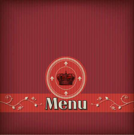 luxury template for a restaurant menu with crown Stock Vector - 13858214