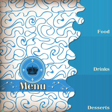 luxury template for a restaurant menu with crown Zdjęcie Seryjne - 13870781