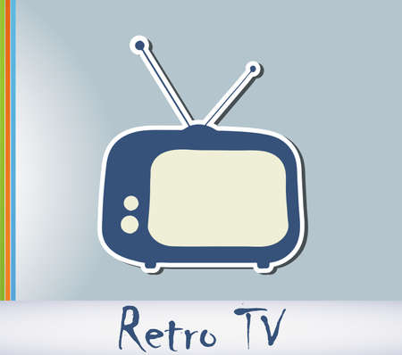 tv retro: Retro TV background cartd with place for text