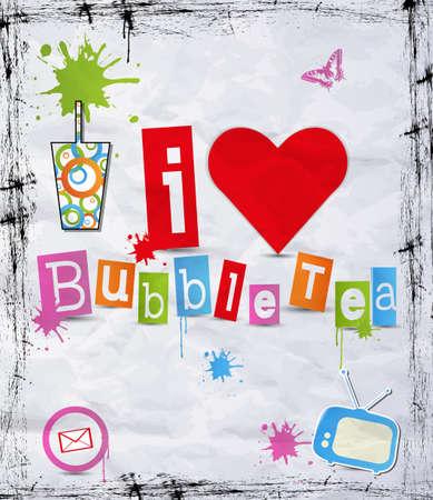 chinese tea cup: Me encanta el t� de burbujas para su negocio