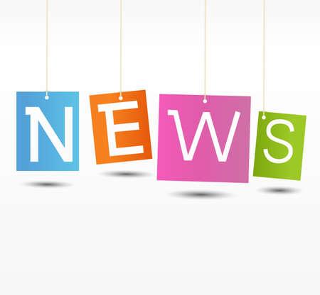 Noticias de Educación - Diario con plantilla de fondo blanco Ilustración de vector