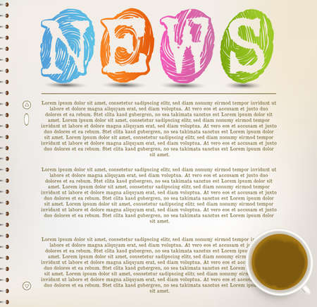 important information: Education News - Newspaper with white background template