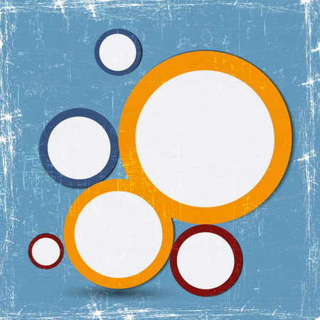 Abstract web design bubbles for your business Vector