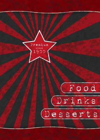 Red Star - Special Menu for your business Vector