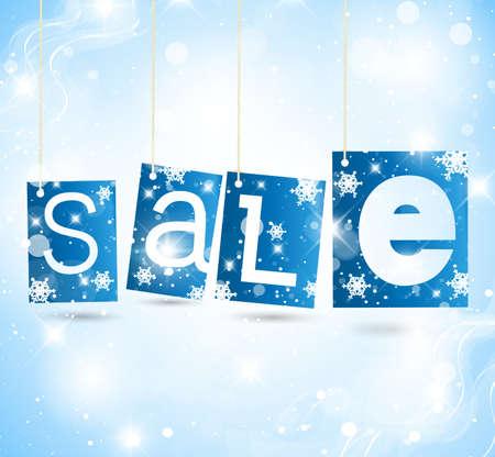 winter sale: Christmas label