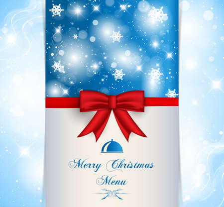 Merry Christmas menu for your business Vector
