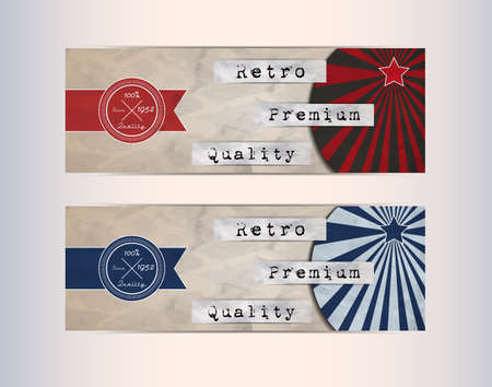 retro design elements: Retro Design Elements- vector for your business Illustration
