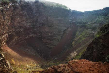 emanation: Panoramic view of Vesuvio Volcano crater - Italy
