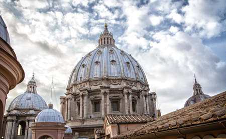 St. Peters cathedral in Rome, Italy, HDR