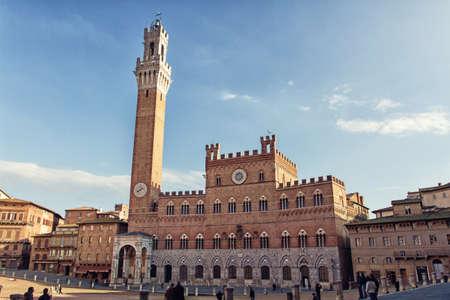 siena: Siena City Hall on Piazza del Campo, Tuscany, Italy