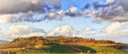 Early morning on Tuscany - countryside, Italy, Europe photo
